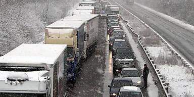 Winter-Chaos bei Paris