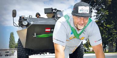 Strongman zieht Mini quer durch Österreich