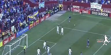 Zauberfreistoß bei Argentinien-Sieg