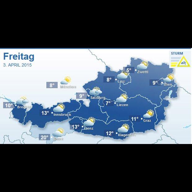 Wettervorhersage Für Ostern In österreich