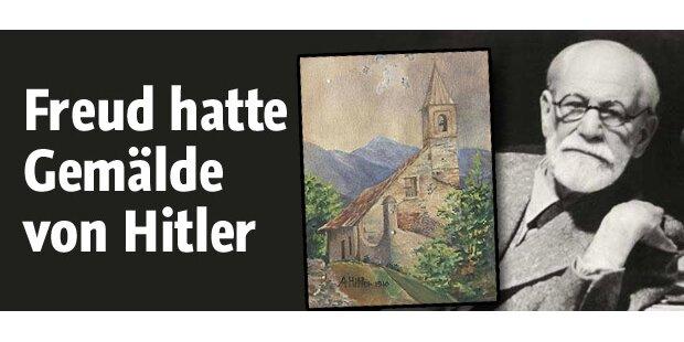 Hitler-Gemälde bei Freud in der Praxis
