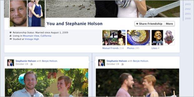 Timeline mit neuen Freundschafts-Seiten