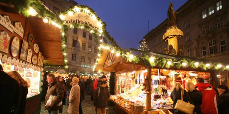 Bio-Weihnachtsmarkt auf der Freyung.