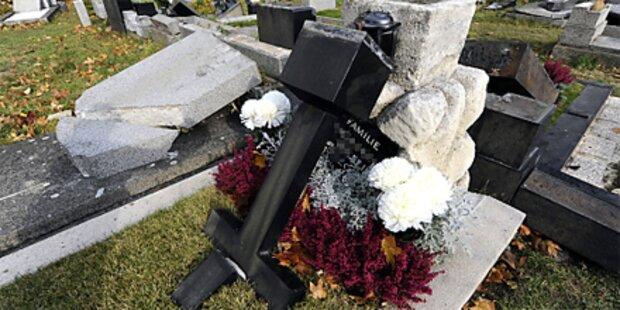 Vandalismus am Friedhof Meidling