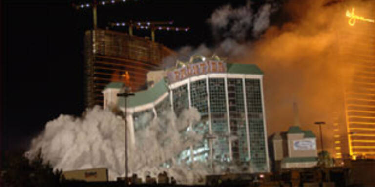 Frontier-Hotel in Las Vegas gesprengt