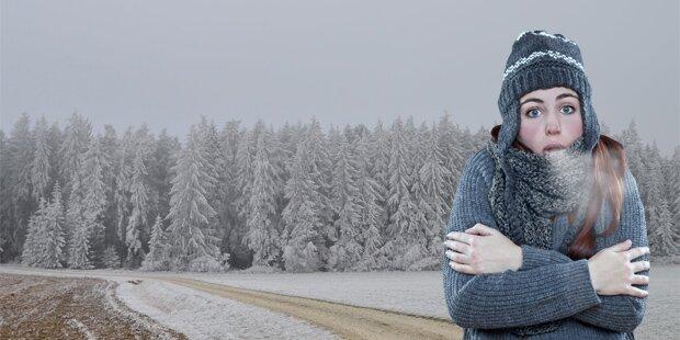Österreich zittert jetzt bei -13 Grad