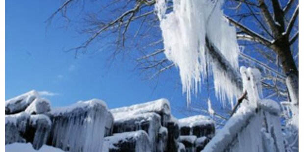 Bisher kältester Morgen des Winters in Österreich