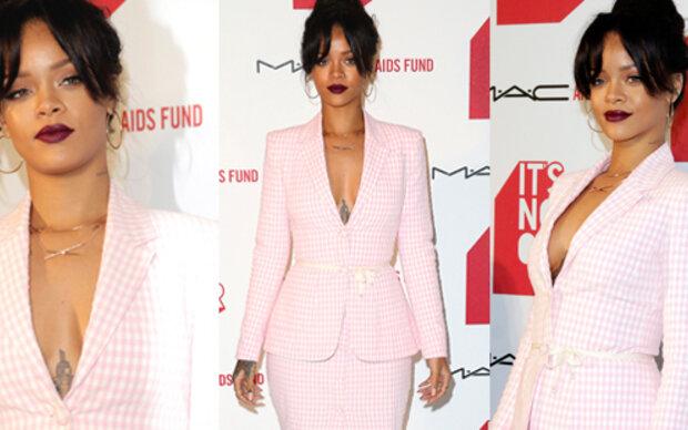 Rosa-Rihanna im trachtigen Oma-Pyjama