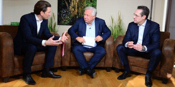 Kurz und Strache im oe24.TV-Talk: 'Kompetenz wird von Wien zum Bund wandern'