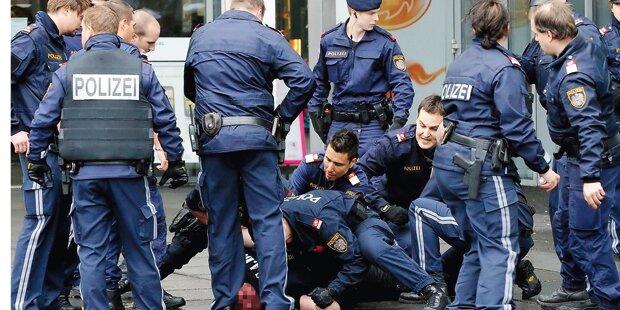 Am Praterstern: Dealer verletzt vier Polizisten