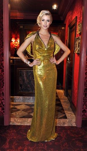 Lena Gercke in ihrer Opernballrobe
