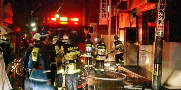 Brand in japanischem Spital: Mehrere Tote