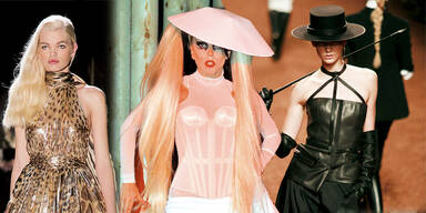 Lady Gaga am Catwalk in Paris