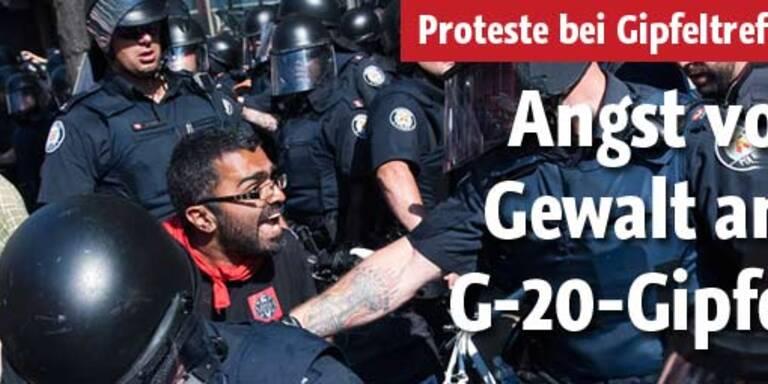 Mehrere Proteste beim G-20-Gipfel