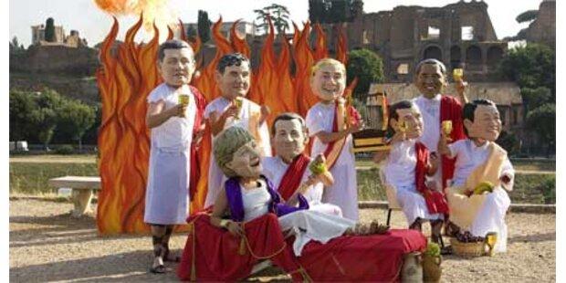 Hochspannung vor G8-Gipfel in Rom