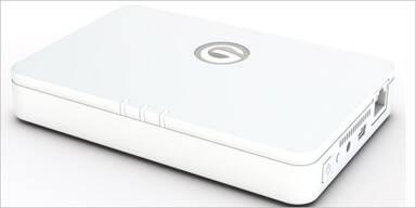 Festplatte mit WLAN und Hotspot-Funktion