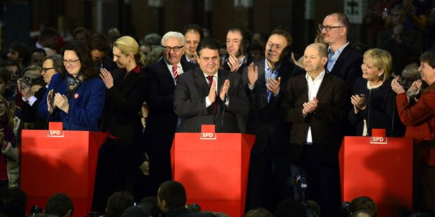 SPD-Basis stimmt für große Koalition