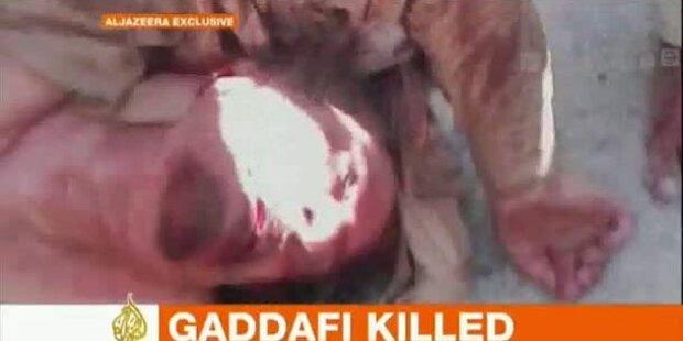 Erstes Video von totem Gaddafi