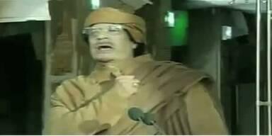 Die Wut-Rede von Gaddafi