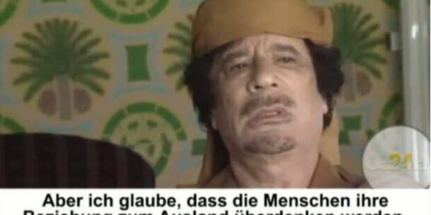 Gaddafi nennt Sarkozy geistesgestört