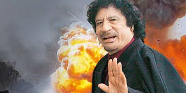 """Gaddafi: """"Ihr kriegt mich nicht"""""""