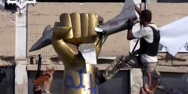 Gaddafi-Statue