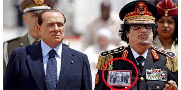 Gaddafi sorgt bei Ankunft für Eklat