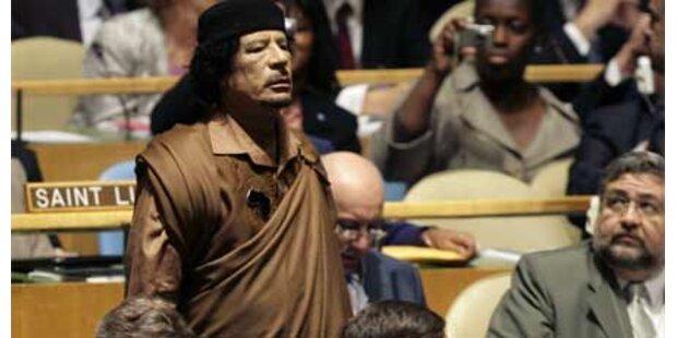 Aufstand gegen Gaddafis Zelt