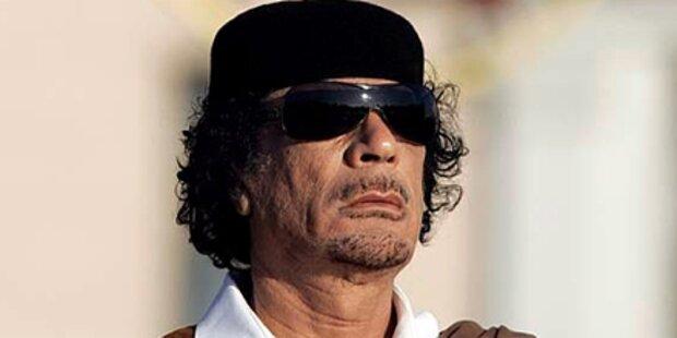 Hier versteckt  sich Gaddafi