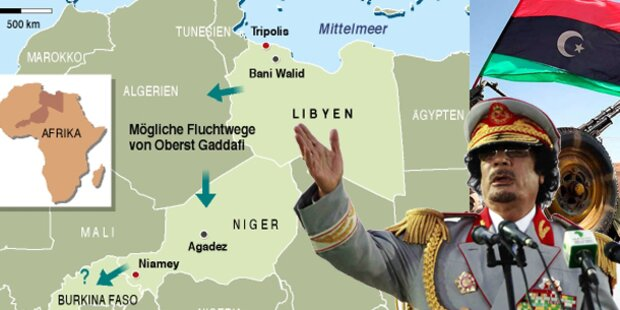 Ist Gaddafi umzingelt?