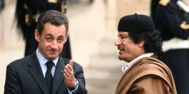 Gaddafi und Sarkozy schmieden schräge Pläne
