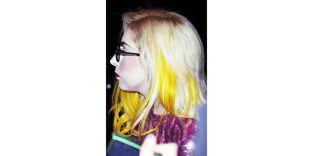 Bleichgesicht Gaga im Grusel-Look