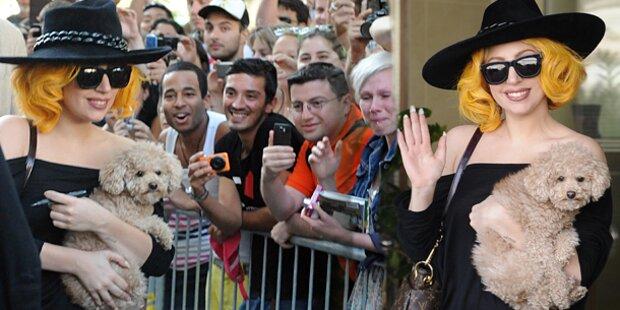 Lady Gaga in Wien gelandet