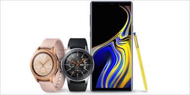 Galaxy Note 9 & neue Galaxy Watch sind da
