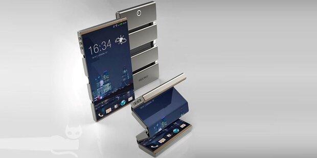 galaxy x samsung patent zeigt faltbares smartphone. Black Bedroom Furniture Sets. Home Design Ideas