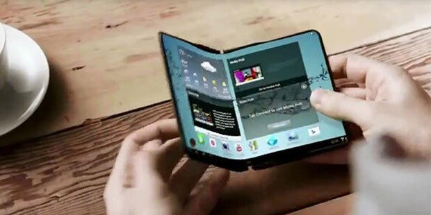 Samsung zeigte sein faltbares Smartphone