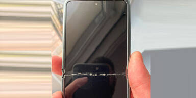 Jetzt auch Display des Galaxy Z Flip gebrochen