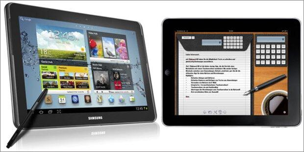 Tablet-Test: Galaxy Note schlägt iPad