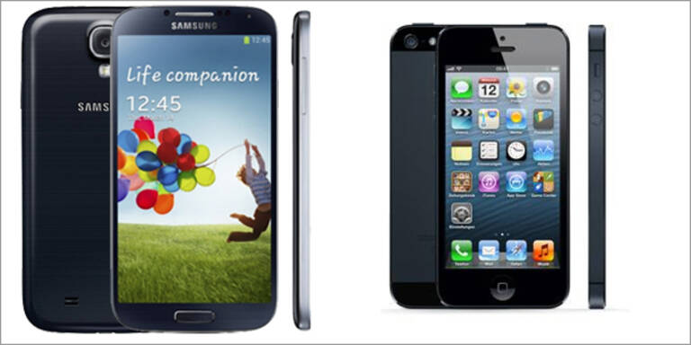 Samsung Galaxy S4 gegen Apple iPhone 5