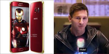 Galaxy S6 Edge im Iron-Man-Look
