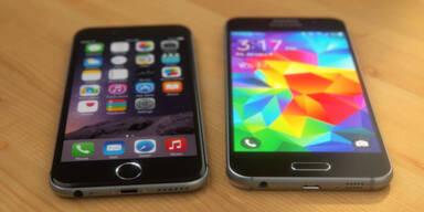 Fotos zeigen Galaxy S6 gegen iPhone 6
