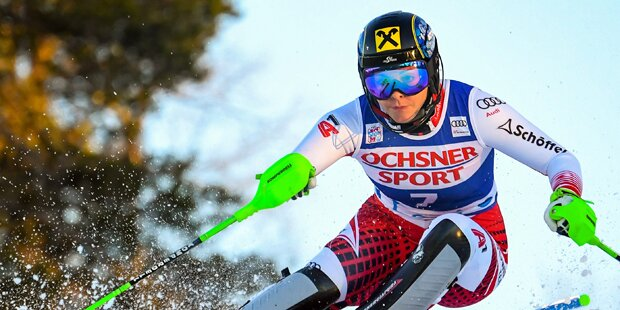 Levi-Slalom: Gallhuber auf Podestkurs