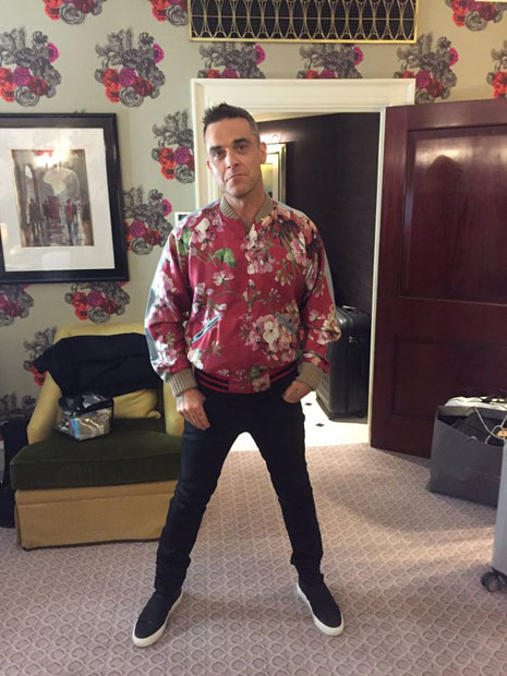 Robbie Williams als Tapete