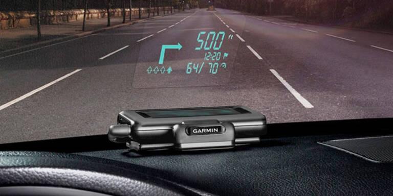 Garmin bringt günstiges Head-Up-Display