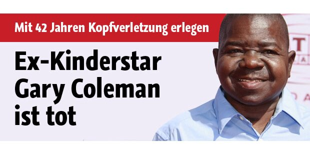 Ex-US-Kinderstar Gary Coleman gestorben