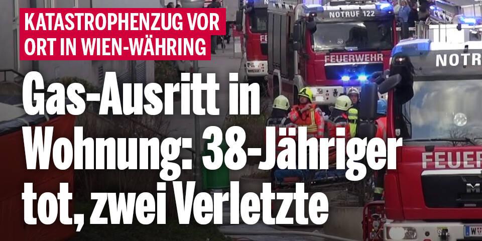 Gas-Austritt in Wohnung: 38-Jähriger tot, zwei Verletzte