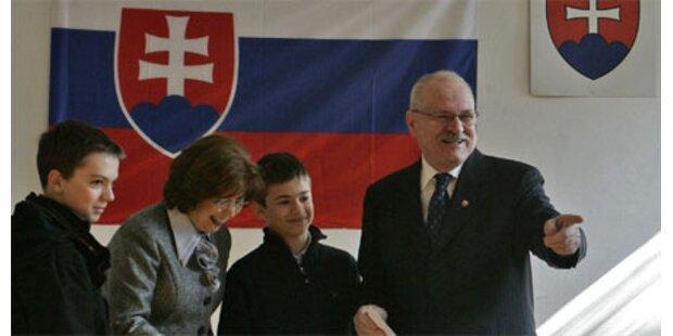 Gasparovic Favorit bei Wahl in Slowakei