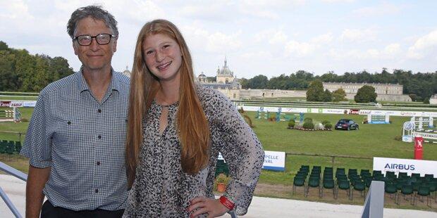 Bill Gates mit Tochter in Salzburg