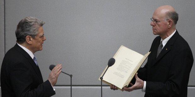 Gauck als Bundespräsident vereidigt