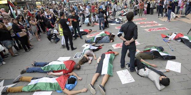 500 bei Pro-Palästina-Flashmob in Wien